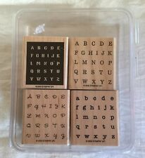 2005 Stampin' Up! Wood Mount Stamp Set - Alphabits 4 Stamps