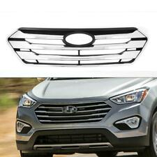 Chrome Front Bumper Hood Replacement Grill for Hyundai Santa Fe Sport 2013-2014