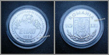 ROMANIA 10 LEI 1996 COMMEMORATIVE 1996 FOOTBALL EURO CUP UNC WITH PLASTIC COVER