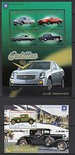 H93) 100th ANNIVERSARY CADILLAC 2 Blocs ST-VINCENT-GRENADINES Timbres Neufs-MNH