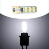 3pcs Car T10 194 W5W COB 2835 SMD 12 LED Canbus Bright License Plate Light Bulbs