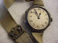 Vintage STERLING SILVER antique pre 1920 Art Deco Lady GENERAL watch  ... NR