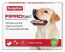 Beaphar FIPROtec for Large Dog 1 Treatment Pack Flea Tick Treatment 20-40kg