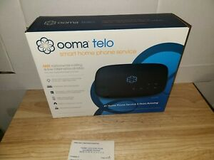 Ooma Telo Smart Home Internet Phone Service Free Nationwide Calling NEW - Black