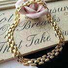 """Vintage Napier Gold Tone Mesh Chain Necklace 18"""" L"""