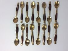 Gold plated spoons 14 Spoons Thai Air Bangkok Coffee Spoons Vintage 1970 Tea Spoons Teaspoons Set Arts and Crafts Special occasion