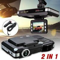 2in1 HD Car DVR Recorder Video Dash Cam Camera 1080P Laser Radar Speed Detector