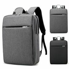 "15.6"" Men Business Backpack Laptop Light Slim School Rucksack Hiking Travel Bag"