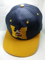 Vintage Mickey Mouse Unlimited Embroidered Logo Blue Yellow Adult Hat Cap