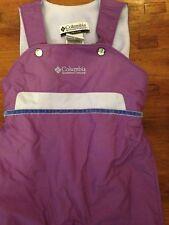 Columbia Baby Snow Bib Overall Ski Nylon Fleece Adjustable Overalls 12 M Purple