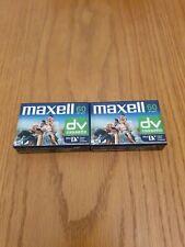 2x Maxell miniDV Digital Video Cassette tapes DVM60SE