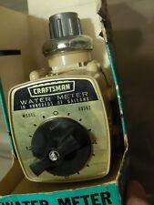 Sears, Roebuck & Co. Chicago, Ill. CRAFTSMAN Auto Water Meter w/ Box/Instr.