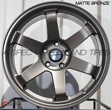 Avid1 AV06 18X8.5 Rims 5x114.3mm +35 Bronze Wheels Fits S2000 Rsx Tsx TL Speed 3