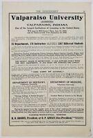 Original 1909 Print Ad Valparaiso University Indiana Dentistry Medicine School