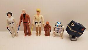 Vintage Kenner Star Wars Action Figure lot of 6 1977 obi wan Luke Skywalker  #2