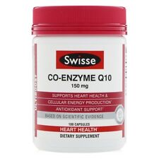 COQ10 CO-ENZYME CAPSULES by SWISSE - NEW VALUE PACK 180 CAPSULES HEART HEALTH