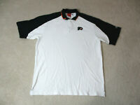 Reebok Philadelphia Flyers Polo Shirt Adult Extra Large White Black NHL Hockey
