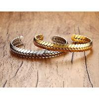 Armband Öffnen Manschette Armband   und Weizen Ohr Muster für Frauen