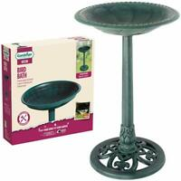 Bird Bath & Feeder Traditional Pedestal Free Standing Garden Bird Outdoor Table