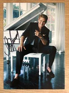 David Hasselhoff AK I met the Hoff Autogrammkarte original handsigniert 3