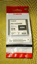 Canon PFI-102MBK GENUINE ✅ Matte Black 130ml AB6-0002 PFI 102 MBK Date May 2021