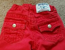 True Religion boys size 4 red Big T jeans