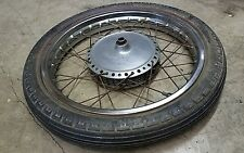 "1971 SUZUKI T500 TITAN T 500 TAKASAGO 19"" 19 FRONT WHEEL DENT FREE GOOD CHROME 2"