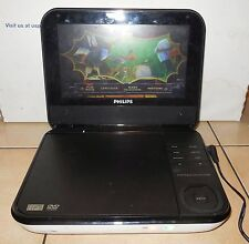 "Philips PD700/37 7"" White Portable DVD Player Car Widescreen Movies Media"