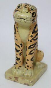 VTG Alva Studios Art Institute of Chicago Tiger Cat Sculpture Figure Solid 1979