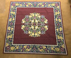 """Golby's French Wall Tapestry Jacquard Scene Fruit & Flowers. 58 x 58""""  EX Cond"""