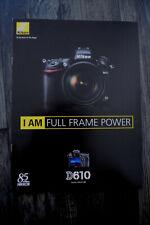 Nikon D610 - Prospekt - Katalog ---- Neu - 2014