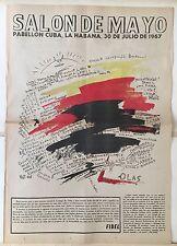 "CATALALOGUE POUR LE ""SALON DE MAYO CUBA LA HABANA 1967"""