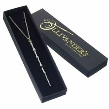 Harry Potter Prof Dumbledore Wand Sterling Silver Necklace Pendant - Boxed