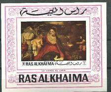 Ras Al Khaima 1969 Christmas Paintings MNH Souvenir Sheet