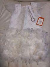 Pottery Barn Kids White Flapper Feather Dress Halloween Costume Sz 7-8 Purim