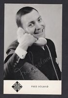 Fred Boland   ... Signierte  Autogrammkarte