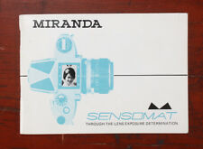 Miranda Sensomat Instruction Book/187809
