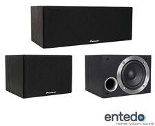 Pioneer S-ES21CR-K Center Surround Lautsprecher Set Heimkino Speaker Box Schwarz