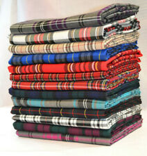 Tartan Plaid Check Craft Quilting Designer Curtain Upholstery Fabric