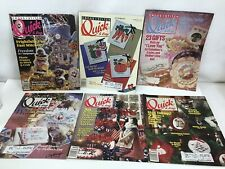 Lot of 6 Cross Stitch Quick and Easy Magazines Various 1990/1991
