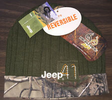 Jeep Camouflage Camo Knit Cap Hat, Reversible, Officially Licensed, Realtree AP