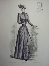 11/ GRAVURE DE MODE 1890   Grand format 36x26