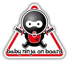 Baby Ninja On Board Sign Car Bumper Sticker Decal 5'' x 5''