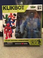 Stikbot Stickbot Klikbot Animation Action Figure Monster New Line Axil Zing Blue