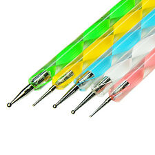 1Set 5Pcs 2-way  Nail Art UV Gel Builder Polish Painting Pen Brush Nail