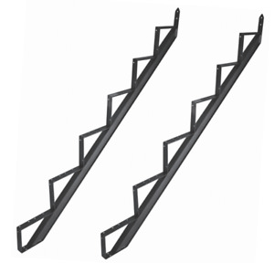 Treppenwange Treppenwangen Aluminium Treppenrahmen 2 - 6 Trittstufen