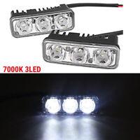 3 LED 12V High Power Car Daytime Running Light Fog Lamp DRL Distance Light White