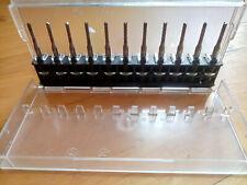 """11X Sehr scharfe Voll-Hartmetall Fräser 2mm mit 3,175mm (1/8"""") Schaft"""