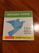 Origami paper 6x6 (15x15cm) 750 Sheets Origin High Quality Double sided 25 color