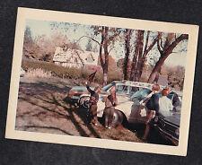 Vintage Photograph People By Vintage Cars - Children Waving Princeton Pendants